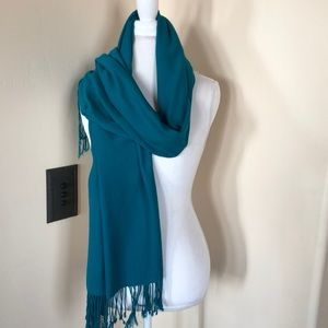 Accessories - Pashmina Teal Fringe Wrap